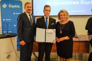 Piotr Woldan ze Stypendium Marszałka Województwa Śląskiego