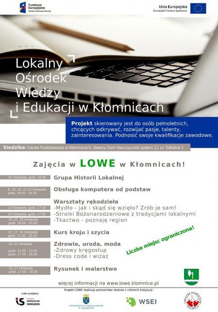 Lokalny Ośrodek Wiedzy i Edukacji w Kłomnicach