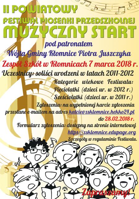 II Powiatowy Festiwal Piosenki Przedszkolnej