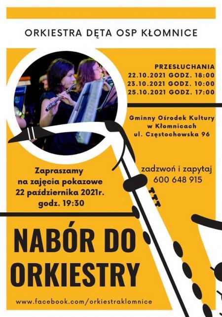 Dołącz do Orkiestry Dętej OSP Kłomnice
